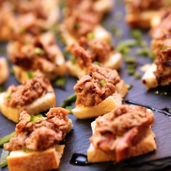 Stokesley Thirsty Thursday October 2015, Delicious canapes from The Mill