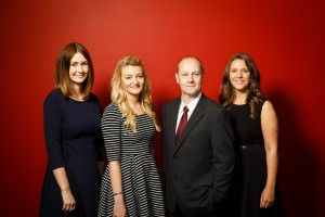 (L-R) Laura Kirkpatrick, Aimee Kavangh, John Scullion, Louise Gilbey. Endeavour Partnership LLP, June 2016. For further info contact: anna@annaaddisonassociates.com