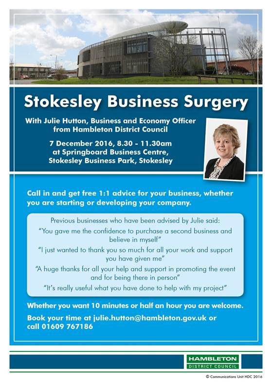 Stokesley business surgery