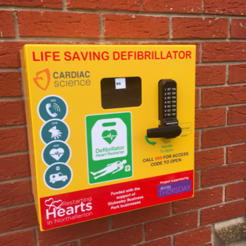 Defibrillator, Thirsty Thursday, Stokesley, Sue Thompon